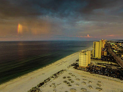 Photograph - Gulf Shores Rainbow  by Michael Thomas