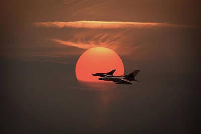 Photograph - Gulf War Sunset Departure by Gary Eason