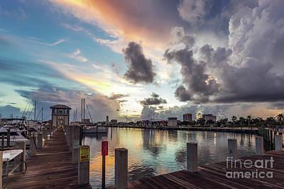 Photograph - Gulfport Harbor Colors by Joan McCool