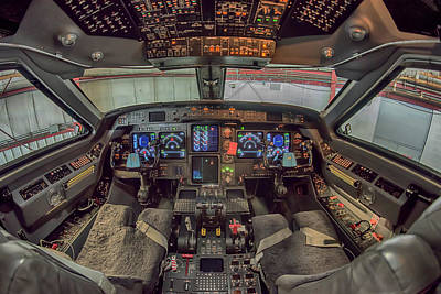 Photograph - Gulfstream Cockpit by Guy Whiteley