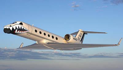 Airplane Digital Art - Gulfstream G450 by Super Lovely