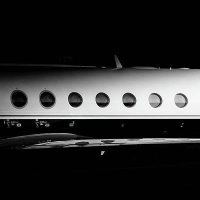 Corporate Elites Photograph - Gulfstream V Windows by Roberto Chiartano