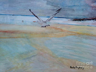 Painting - Gull In Flight by Paula Maybery