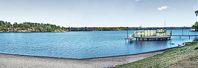 Digital Art - Gull Lake Panorama by JGracey Stinson