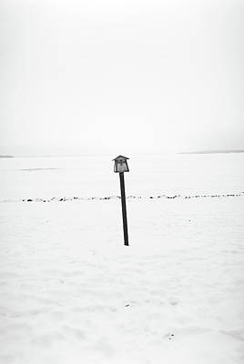 Photograph - Gull Lake Winter Study 1 by Robert Meyers-Lussier