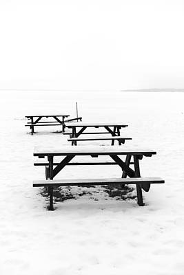 Photograph - Gull Lake Winter Study 3 by Robert Meyers-Lussier