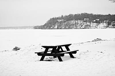 Photograph - Gull Lake Winter Study 4 by Robert Meyers-Lussier