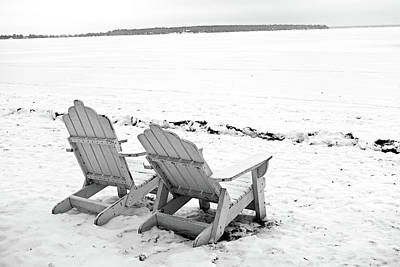 Photograph - Gull Lake Winter Study 5 by Robert Meyers-Lussier