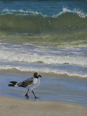 Painting - Gull Walk by Linda Eades Blackburn