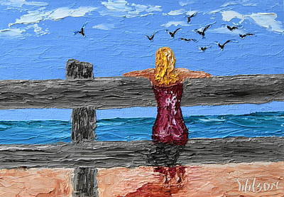 Painting - Watching The Gulls by Chrys Wilson