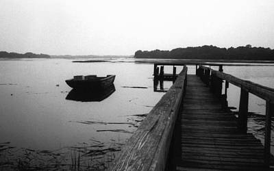 Photograph - Gullah Coast Bateau Bw by Althea Sumpter