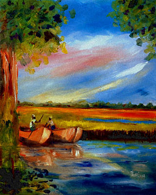 Painting - Gullah Lowcountry Sc by Phil Burton
