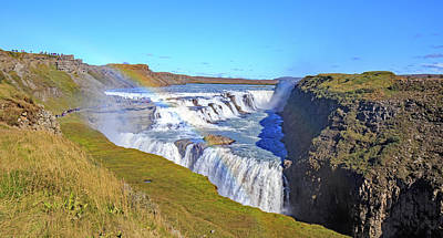Photograph - Gullfoss Falls by Allan Levin