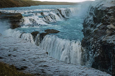 Photograph - Gullfoss - Golden Waterfall - Iceland 2 by Deborah Smolinske