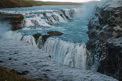 Photograph - Gullfoss - Golden Waterfall - Iceland 2 by Deborah Smolinske