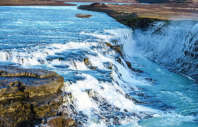Photograph - Gullfoss - Golden Waterfall - Iceland 3 by Deborah Smolinske