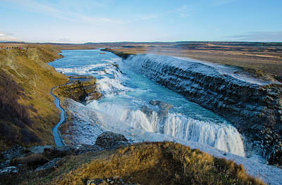 Photograph - Gullfoss - Golden Waterfall - Iceland by Deborah Smolinske