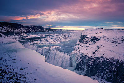 Photograph - Gullfoss Morning by James Billings