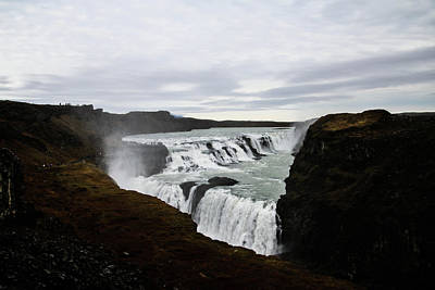 Photograph - Gullfoss by Perggals - Stacey Turner