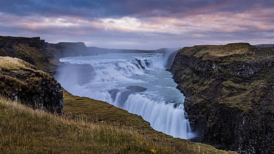 Photograph - Gullfoss, Sunrise by James Billings