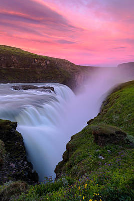Photograph - Gullfoss Sunrise by Joseph Rossbach