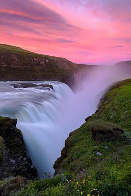 Photograph - Gullfoss Sunrise by Joseph Rossbach
