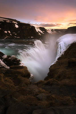 Colorful Photograph - Gullfoss by Tor-Ivar Naess