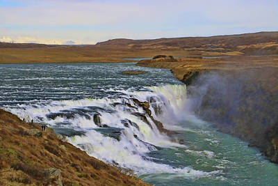 Photograph - Gullfoss Waterfall # 1 by Allen Beatty