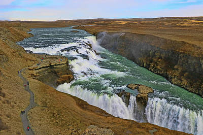 Photograph - Gullfoss Waterfall # 2 by Allen Beatty