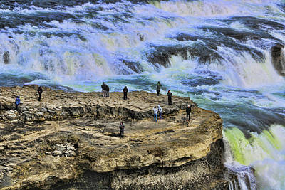 Photograph - Gullfoss Waterfall # 3 by Allen Beatty