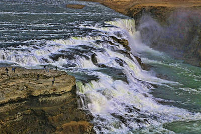 Photograph - Gullfoss Waterfall # 4 by Allen Beatty