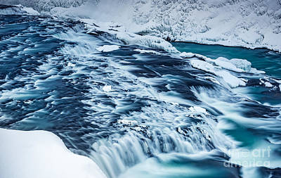 Photograph - Gullfoss Waterfall  by Anna Om