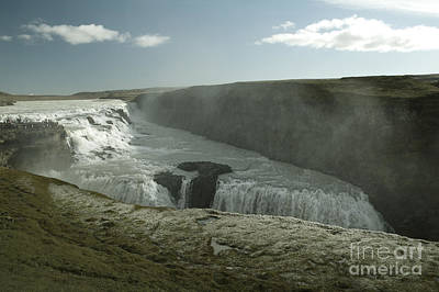 Europe Photograph - Gullfoss Waterfall by Dani Prints and Images
