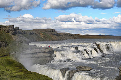 Photograph - Gullfoss Waterfall Iceland Vi by Marianne Campolongo
