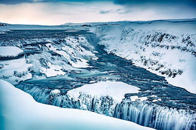 Photograph - Gullfoss Waterfall In Iceland by Anna Om