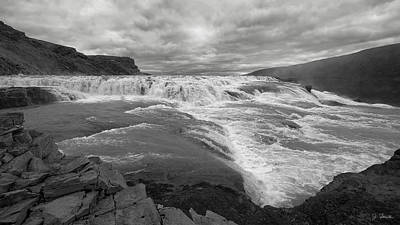 Photograph - Gullfoss Waterfall No. 1 by Joe Bonita