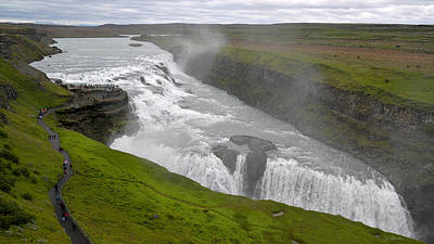 Photograph - Gullfoss Waterfall No. 2 by Joe Bonita