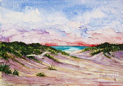 Gulls And Dunes Art Print by Suzanne Krueger