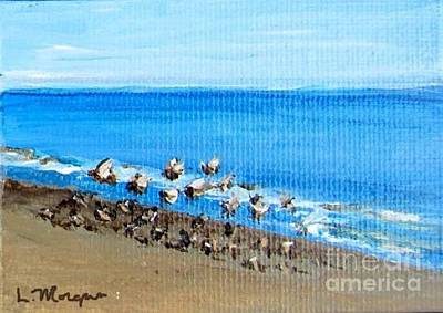 Painting - Gulls At Play by Laurie Morgan