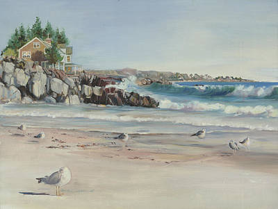 Gulls At Rest Art Print