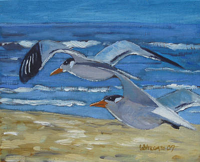 Painting - Gulls by D T LaVercombe