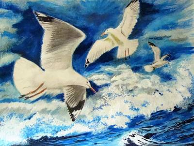 Painting - Gulls Delight by Yvonne Breen