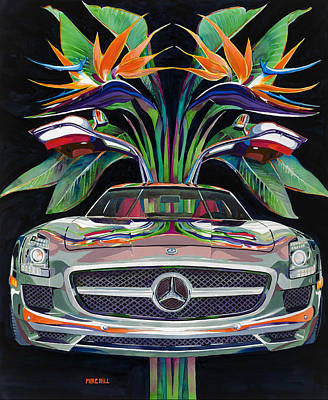 Mike Hill Painting - Gullwing Birds Of Paradise by Mike Hill