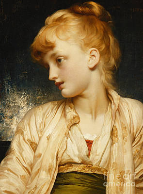 Auburn Painting - Gulnihal by Frederic Leighton