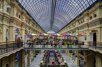 Gum Department Store Interior - Red Square - Moscow Print by Jon Berghoff