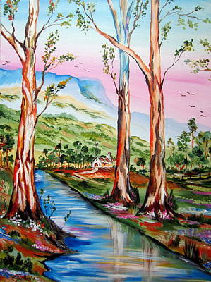 Painting - Gum Trees In Nsw by Roberto Gagliardi