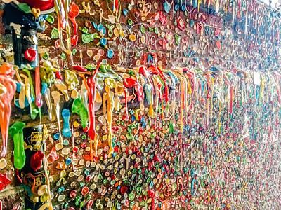 Impressionist Landscapes - Gum Wall In Seattle Washington by Alex Grichenko
