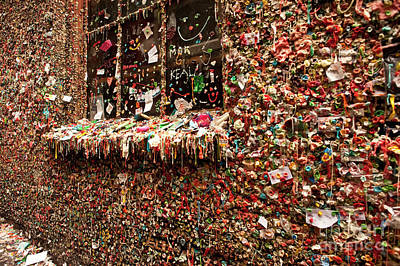 Gum Wall Pike Place Market Gum Wall Art Print