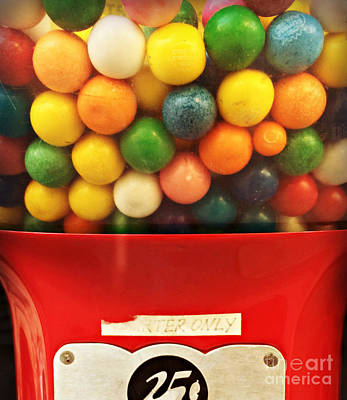 Photograph - Gumball Happiness by Miriam Danar