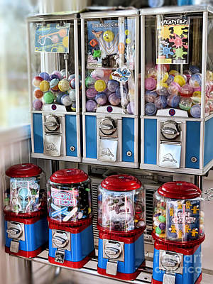 Photograph - Gumball Machines  by Janice Drew